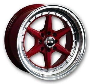16 XXR 501 RED RIMS WHEELS 16x8 +15 4x100 BMW E30 MAZDA MIATA SCION XB