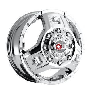 WORX Alloy Triad 801 8 Lug Chrome Wheels Rims FREE Caps Lugs Stems