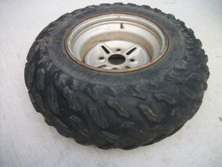 1989 Yamaha Big Bear 350 4X4 OEM Rear Rim Wheel 25X10 12 Dunlop Tire
