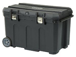 037025H 50 Gallon Mobile Storage Chest Wheels Handle Black BRAND NEW