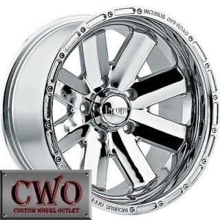 20 Chrome Incubus Recoil Wheels Rims 5x139.7 5 Lug Dodge Ram Durango