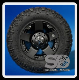 18 RIMS XD ROCKSTAR MATTE BLACK WITH 295 70 18 NITTO TRAIL GRAPPLER