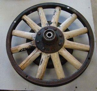 1930 WHIPPET 20 Wooden Spoke Wheel w/ Brake Drum, Bearings Front