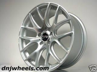 111 Audi A3 A4 VW Jetta Golf GTi CC Silver Black Mesh Custom Wheels