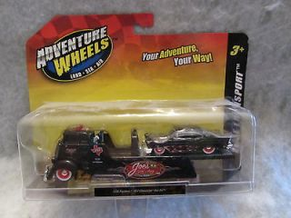 Maisto Adventure Wheels COE Flatbed / 57 Chevy Bel Air 1:64 scale NOC