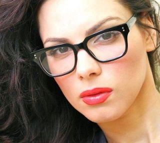 Fashion Black Thick Frame Full Rim Clear Lenses Men Women Wayfarer Eye