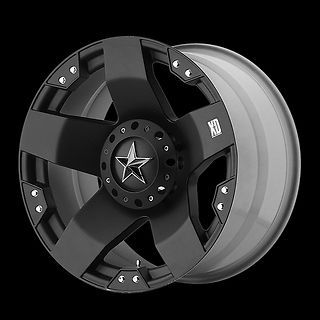 18 RIMS XD ROCKSTAR MATTE BLACK W/ 35X12.50X18 NITTO MUD GRAPPLER