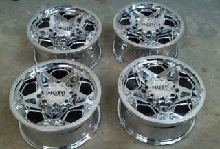 20 Moto Metal 960 Chrome 8 lug truck Ford F250 F350 8x170 4 Wheels