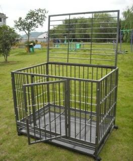 42 Heavy Duty Dog Pet Cat Bird Crate Cage Kennel HS