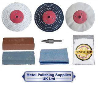 Metal Polishing Kit 4 x 1 Aluminium, Brass NFK0 4002