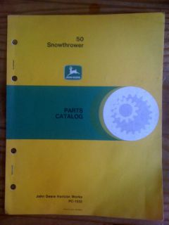 John Deere Parts Catalog for 50 Snowthrower PC 1532