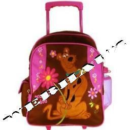 Warner Bros Scooby Doo Luggage  School Kid Size Rolling Backpack, New