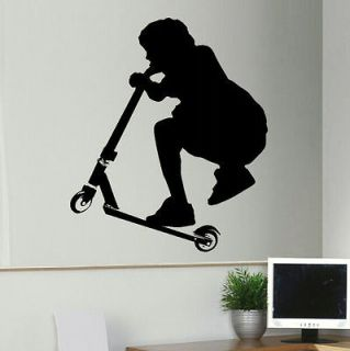 LARGE STUNT TRICK SCOOTER 50CMx60CM WALL TRANSFER MURAL ART STICKER
