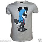 Mens Official Licensed Mickey Mouse Skateboard Design T Shirt XS S M L