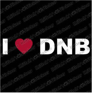 RED HEART DNB Vinyl Decal 5x1 car sticker love Drum and Bass & Andy