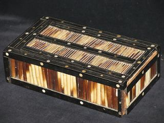 Fabulous Anglo Indian Quilled & Inlaid Trinket Box, 6.75 x 4 x 2