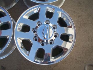 SILVERADO 2500 HD 3500 HD LTZ FACTORY POLISHED WHEELS RIMS 2011 2013