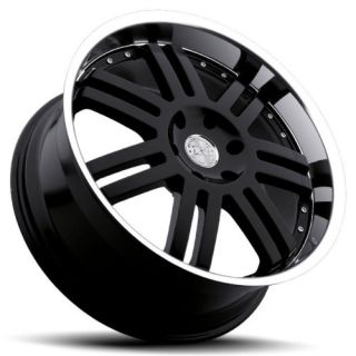 24 Black Rhino Wheels Rims 6x5 5 6 Lug Chevy Chevrolet GM Truck Tahoe