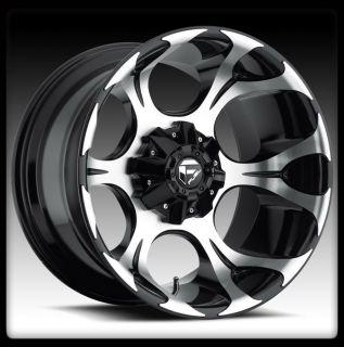 20 Fuel Dune Black Machined Wheels Rims Federal 33x12 50x20 Couragia