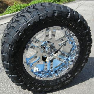 20 Chrome Moto Metal 951 Wheels Rims 35 Toyo MT Tires Ford F250 F350