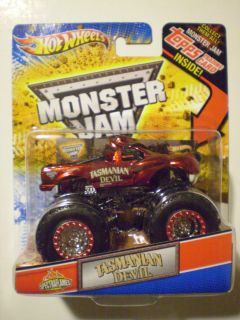HOT WHEELS 2012 Monster Jam 1 64 TASMANIAN DEVIL Spectraflames Topps