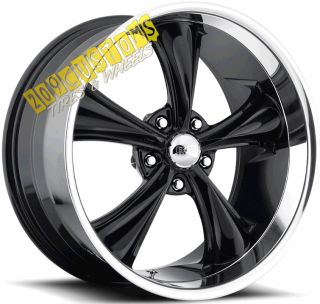 WHEELS 338 BLACK RIMS TIRES 5X115 CHRYSLER 300 2009 2010 2011 2012