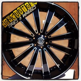 VERSANTE RIMS WHEELS TIRES VW225 22X8 BLACK NISSAN MAXIMA 2011 2012