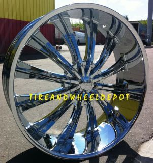 26 INCH B15 RIMS AND TIRES 26X9+25 MARAUDER 2010+ CAMARO CROWN VIC