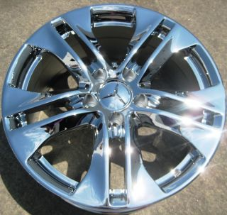STOCK 4 17 FACTORY MERCEDES E350 E550 OEM CHROME WHEELS RIMS 2010 13