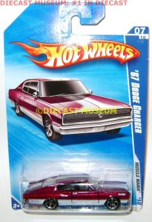 1967 67 Dodge Charger Purple Hot Wheels 1 64 2010