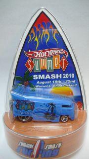 2010 Hot Wheels Summer Smash Convention Rhode Island VW Drag Bus Blue