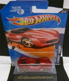 2009 Chevrolet Corvette Stingray Concept Red Hot Wheels Diecast 1 64