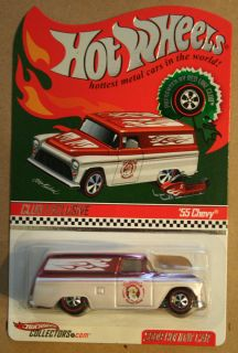 Hot Wheels 2009 RLC Red Line Club Exclusive HWC 55 Chevy Holiday Car
