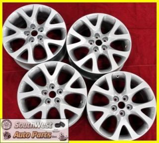 2012 2011 Mazda 6 18 5x114mm Silver Take Off Wheels Factory Rims Set