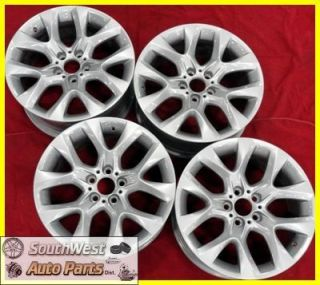 2011 BMW x5 19 5 Spoke Silver Take Off Wheels Factory Rims 334 71440