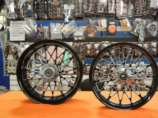 Yamaha R1 2009 2012 240mm Bandit Wheels Black Contast Cut Powder