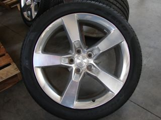 20 2011 Camaro 5 Spoke Polished Wheels Rims Tires
