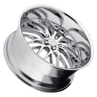 22 MRR GT1 Chrome Wheels Rims Fit BMW E60 E61 2003 2010 M5