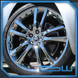 Senta Chrome Wheels Rims Tires Package Deal fits 2008 2012 Jaguar XF