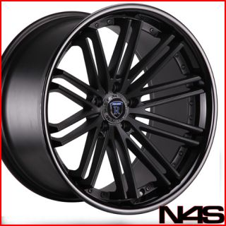 G35 Coupe Rohana RC20 Black Deep Concave Staggered Wheels Rims