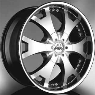 361 22x10 5x112 ET60 Silver Machined Finish Set of 4 Wheels
