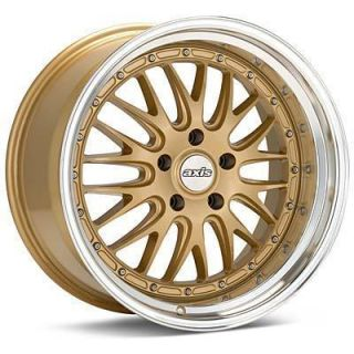 18 Axis Rev Style Gold Wheels Rims Staggered Fit Lexus SC300 sc400