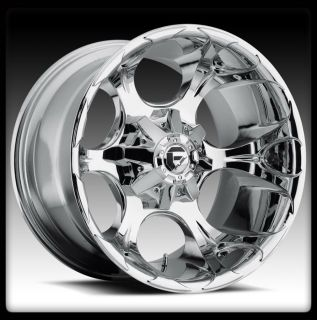 20 FUEL D522 DUNE CHROME WHEELS RIMS NITTO 37X13 50X20 LT MUD GRAPPLER