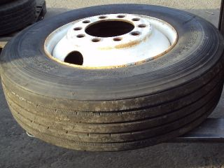 Semi Truck Tire and Rim 11 x 24 5