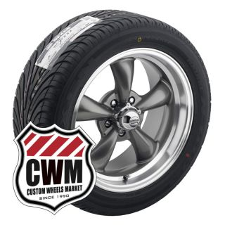 17x8 17x9 Charcoal Gray Wheels Rims Tires 235 45ZR17 275 40ZR17 for