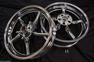 06 07 08 09 10 11 Yamaha YZF R6 Chrome Rims wheels rim NEW SET CHROMED