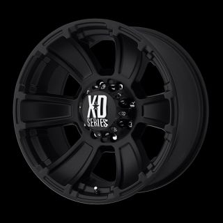 Matte Black 18 x 9 8x170 Ford F 250 Super Duty Wheels Rims