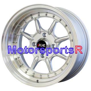 16 16x8 XXR 002 Hyper Silver Wheels Rims 85 86 87 Toyota Corolla GTS