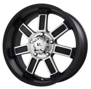 Offroad Diesel 5x5 ET0 Matte Black Machined Wheels 4 New Rims