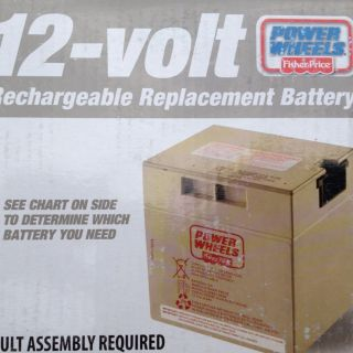 12 Volt Rechargeable Replacement Power Wheels Battery